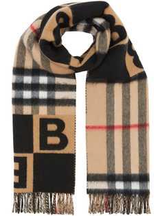 Burberry шарф с принтом Check and B