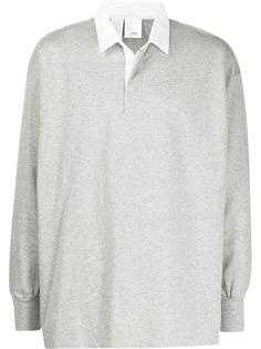 N. Hoolywood рубашка-поло с длинными рукавами
