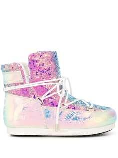 Moon Boot блестящие ботинки Glicine