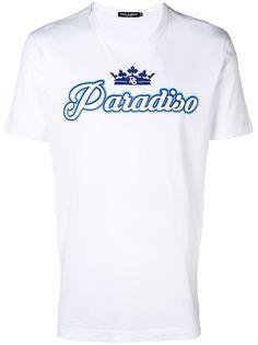 Dolce & Gabbana футболка с принтом Paradiso
