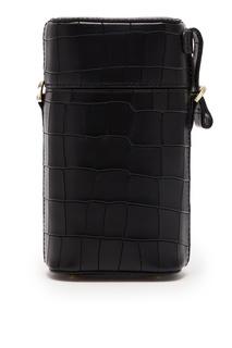 Черная мини-сумка в форме тубуса Leather Like Wood