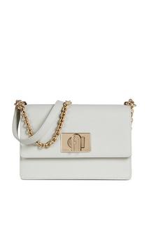 Прямоугольная сумка белого цвета 1927 Furla