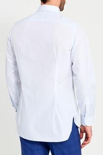 Сорочка в бело-голубую клетку Canali