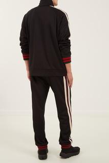 Черная олимпийка с контрастной отделкой Gucci Man