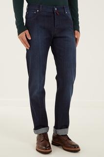 Синие джинсы с застежкой на пуговицы Kiton
