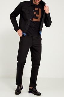 Широкие черные джинсы Fendi