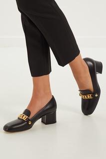Черные туфли Sylvie с золотистой отделкой Gucci