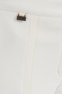 Белые брюки Fendi
