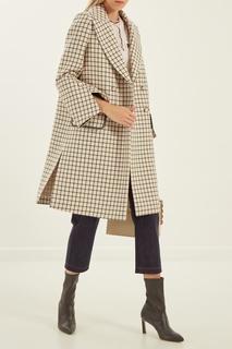 Пальто в клетку Fendi