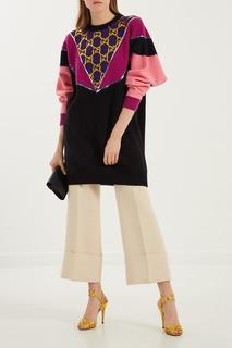 Разноцветный шерстяной джемпер Gucci
