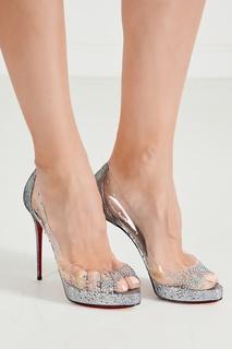 Комбинированные туфли Very Strass PVC 120 Christian Louboutin