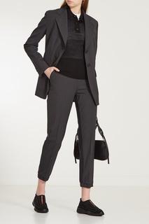 Черные текстильные кроссовки с отделкой Prada