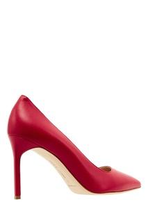 Красные кожаные туфли BB Manolo Blahnik