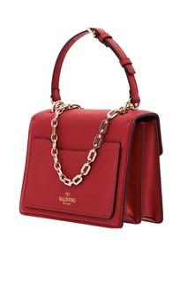 Красная сумка с отделкой Valentino