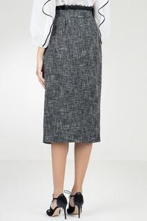 Серая юбка из твида Blumarine