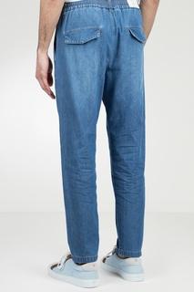 Голубые джинсы на резинке Eleventy