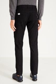 Черные джинсы из хлопка Emporio Armani