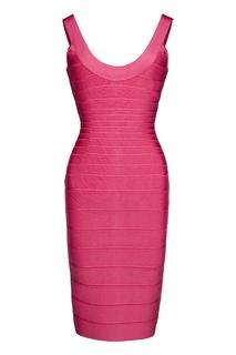 Бандажное платье на толстых лямках Hervé Léger