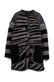 Пальто с принтом под зебру The Marc Jacobs
