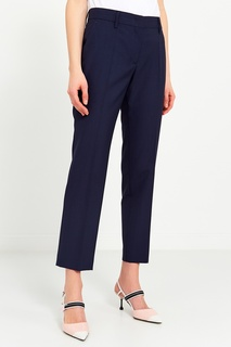 Синие шерстяные брюки Prada