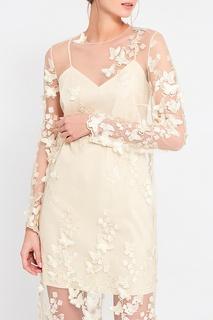 Платье с объемными бабочками A LA Russe