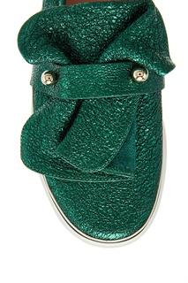 Блестящие зеленые слипоны RED Valentino