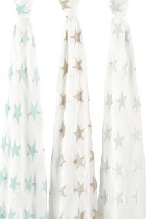 Набор из трех пеленок со звездами Aden+Anais