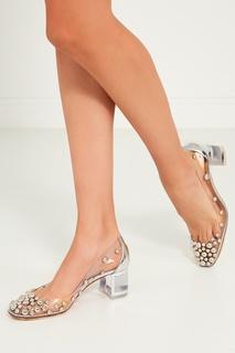 Прозрачные туфли с заклепками Space Bool 55 Christian Louboutin