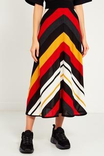 Длинная юбка с контрастным узором Msgm