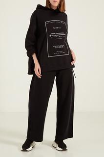 Черные брюки из хлопка Mm6 Maison Margiela