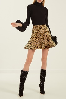 Юбка с леопардовым принтом Valentino