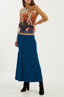 Синяя юбка макси Maison Kaleidoscope