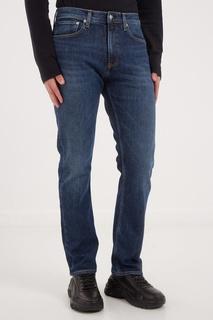 Синие джинсы с выбеленным эффектом Calvin Klein