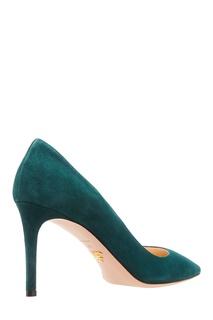 Зеленые замшевые туфли Prada