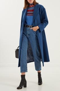 Голубое пальто Sandro
