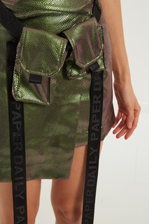 Асимметричная зеленая юбка Diaze Daily Paper
