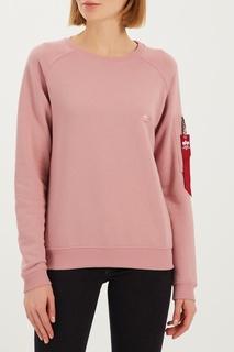 Розовый трикотажный свитшот Alpha Industries