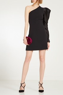 Черное платье с рукавом буф David Koma