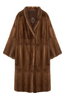 Коричневое норковое пальто Меха Екатерина