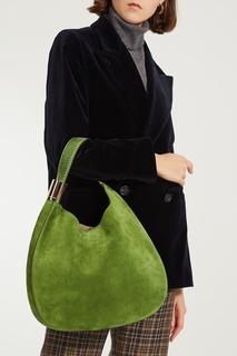 Зеленая сумка-мешок Stevie Jimmy Choo