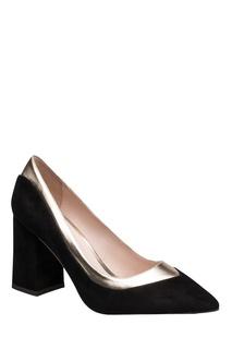 Черные туфли с золотистой вставкой Portal
