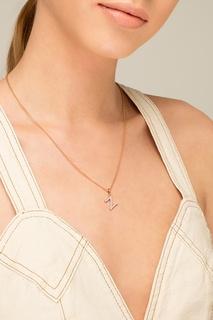 Кулон с покрытием из розового золота Lav`Z
