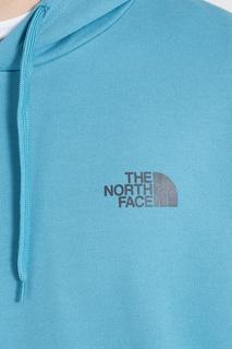 Голубое худи с логотипом The North Face