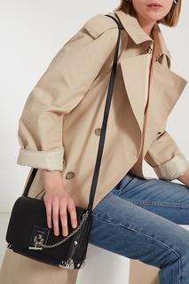 Черная сумка с серебристой фурнитурой Calvin Klein