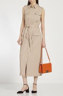 Оранжевая сумка-кроссбоди Mimi Furla
