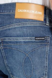 Синие джинсы из хлопка Calvin Klein