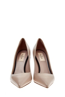 Бежевые туфли с логотипом VLTN Valentino