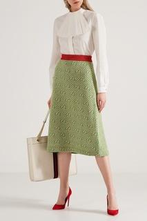 Шерстяная юбка с узором Gucci