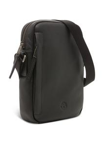 Черная кожаная сумка Timberland