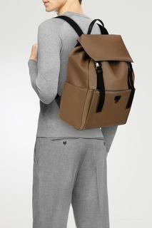Коричневый кожаный рюкзак Man Ulisse Furla